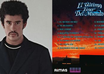 Benito Martínez y la contraportada de su álbum 'EL ÚLTIMO TOUR DEL MUNDO' (2020).