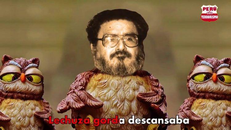 """Montaje de Abimael Guzman sobre un """"lechuza gorda"""" en el clip de Los Nosequién y Los Nosecuentos"""